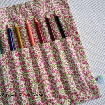 Porta Lápis de cor floral 2
