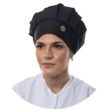 Touca Cirúrgica Cozinha Feminina - Cor Preta
