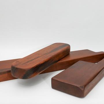 Tábuas de corte e servir em madeira nobre - Kit luxo 3 pçs