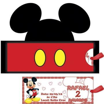 Convite Rosto Mickey