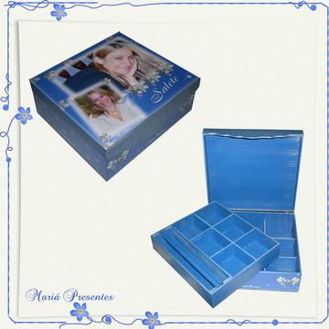 Caixa de bijuterias com fotos