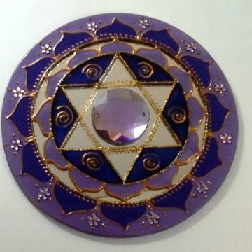 Espelho Estrela de Davi Violeta