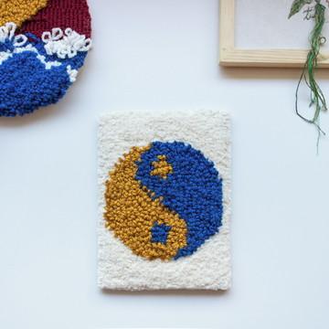 Quadro yin yang decorativo tapeçaria
