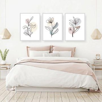 quadros decorativoscasal flor abstrato com moldura e vidro