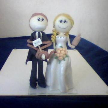 noivinhos, topo de bolo