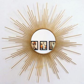 Espelho Sol 70cm De Madeira Diversas Cores Promoção