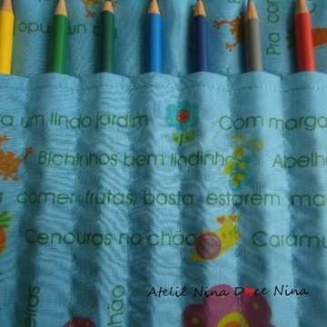 Porta lápis de cor Jardim - Lembrancinha