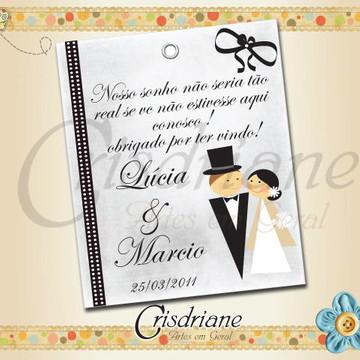 Tag de Casamento Lucia e Marcio
