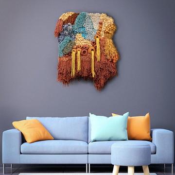 Tapete de parede inspirado em corais