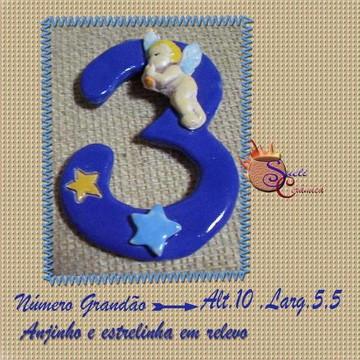 Número em cerâmica