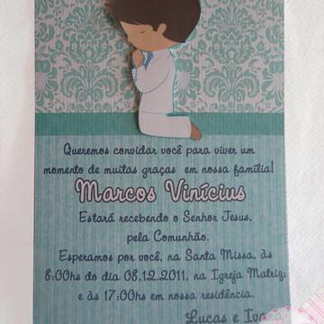 COnvite Primeira COmunhao Menino 15x21
