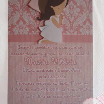 Convite Primeira comunhao 15x21