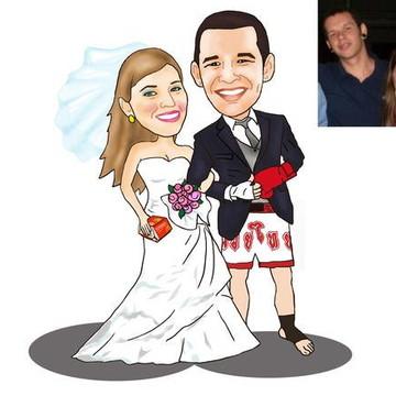 Caricatura dos Noivos
