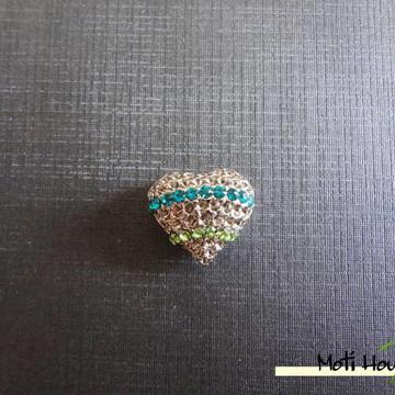 P04 - Pingente coração com strass