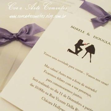 Convite Noivado 1 - Mirele e Eduardo