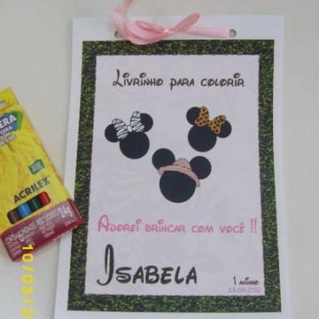 Mickey Safari - Caderno de Colorir