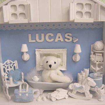 Enfeite porta Maternidade Urso Banheira