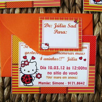 Mini convite: Hello Kitty