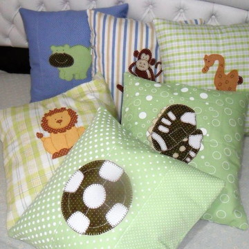 Almofadas em patchwork