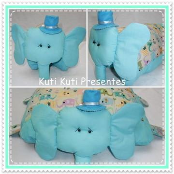 elefante que vira travesseiro/ almofada