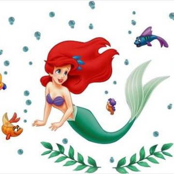 Kit Adesivos Princesa Ariel