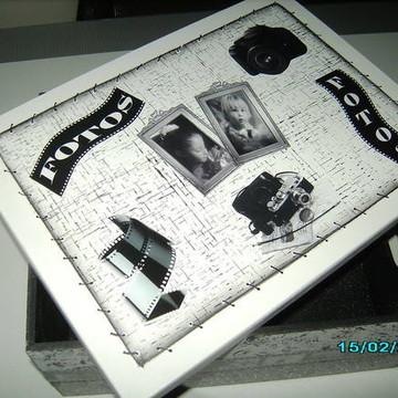 Caixa de Foto - Preta e Branca