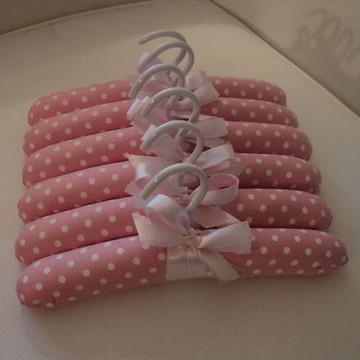 Cabide Infantil - rosa bebê !(3 unid)