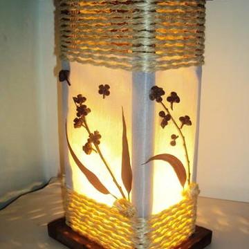 abajur luminária de mesa rústico