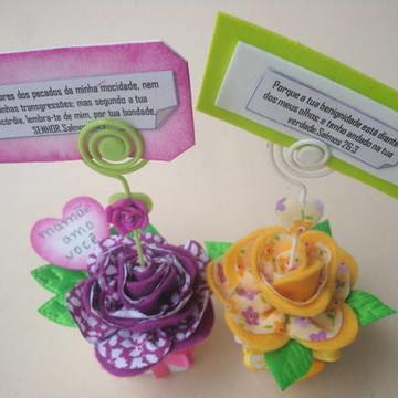 vasinho com flor de feltro