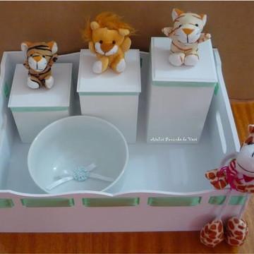 Kit Higiene Luxo Safari 5 Peças - Unico