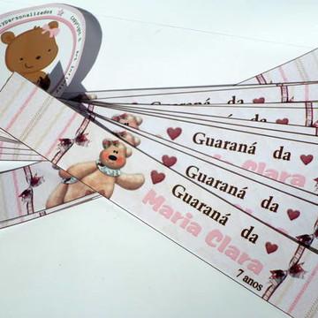 Rótulo de guarana caçulinha ursinha