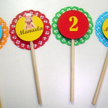 Topper para cupcake Cocoricó