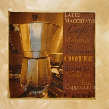 Quadro Decoupage - Café