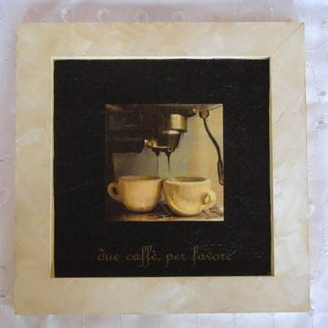 Quadro Decoupage Café.