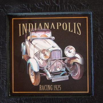 Mini Quadro Decoupage - Indianapolis