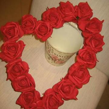 Guirlanda Coração de Rosas I