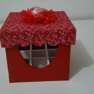 Porta Batom Rosa Vermelha