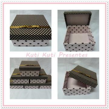 caixinhas forradas com tecido