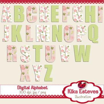 Alfabeto Digital Rosa e Verde