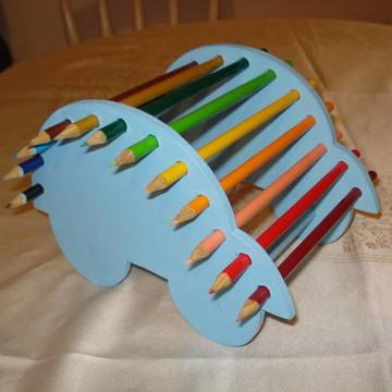 porta lápis de cor em mdf