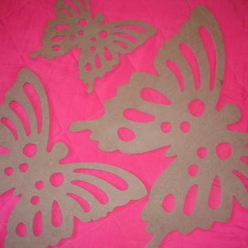 Trio de borboletas em mdf