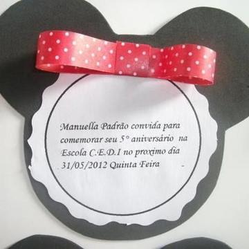 Convite em eva Minnie/Mickey