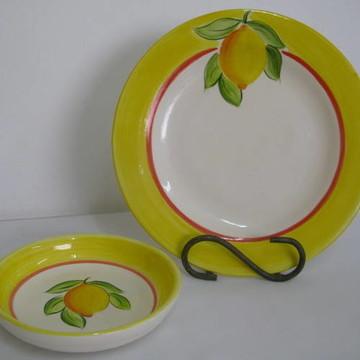 Jogo de Jantar Limão Siciliano(Kit Ind.)