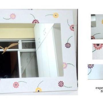 Espelho mosaico gérberas