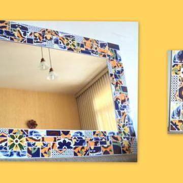 Espelho mosaico Colcha de Retalhos II