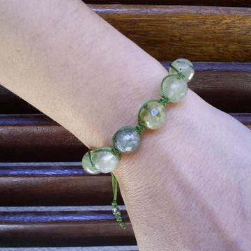 Pulseira Shambala com Quartzo verde