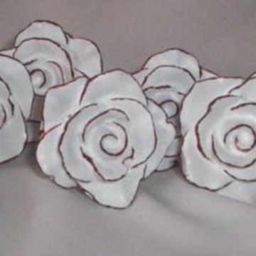 Puxadores de resina rosa provençal