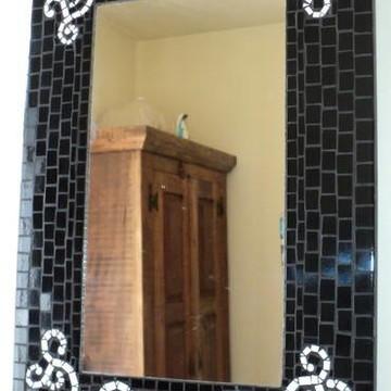 Espelho mosaico arabescos vertical