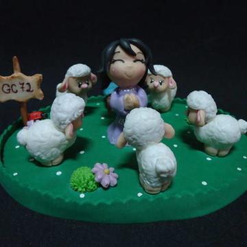 Enfeite de bolo decoração religiosa