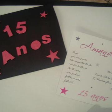 Convite 15 anos - Estrelas